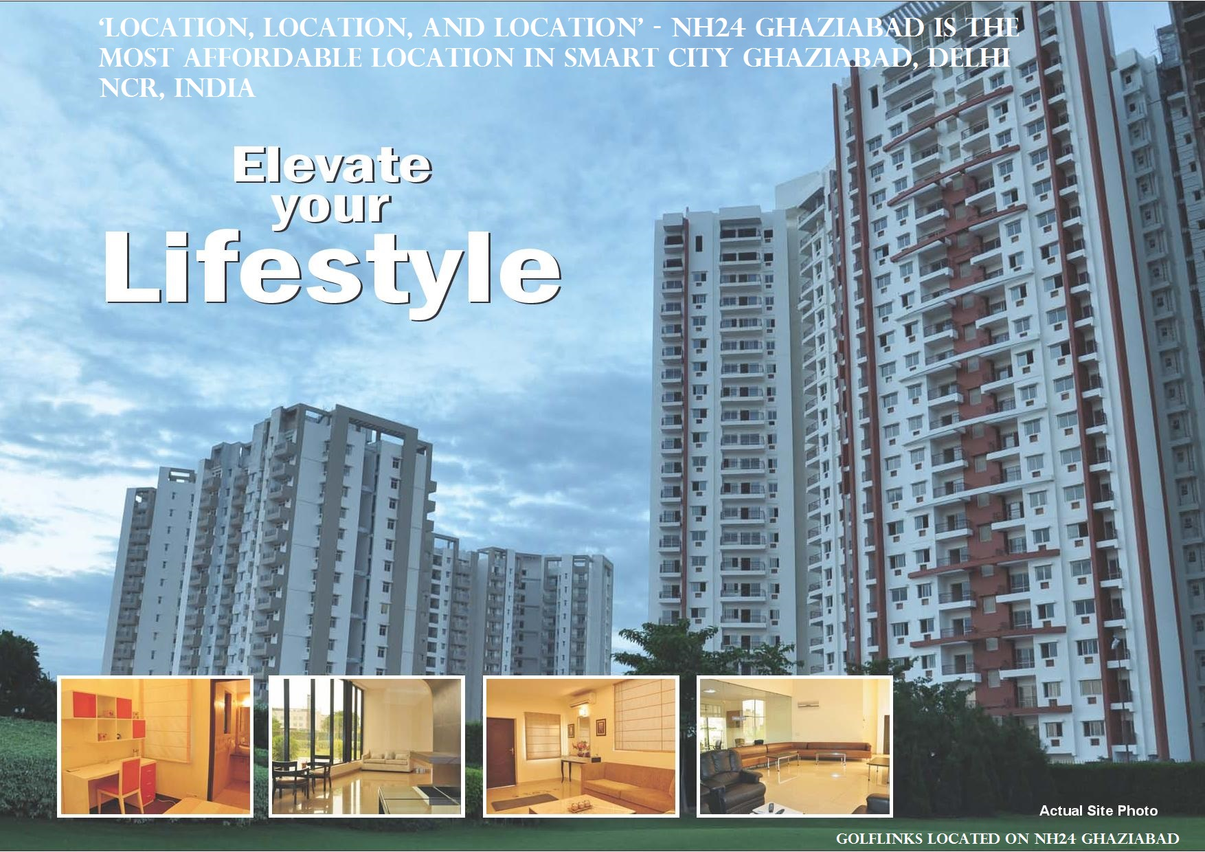NH24 Ghaziabad is the Most Affordable Location in Smart City Ghaziabad, Delhi NCR, India