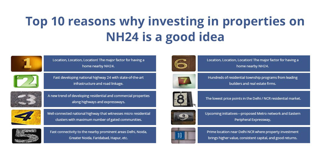Top 10 Reasons Why Investing in Properties on NH24 is a Good Idea