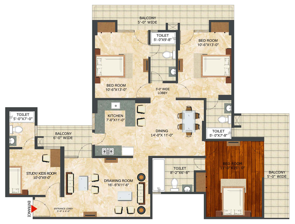 Golflinks phase2 floor plan landcraft developers for Landcraft homes floor plans
