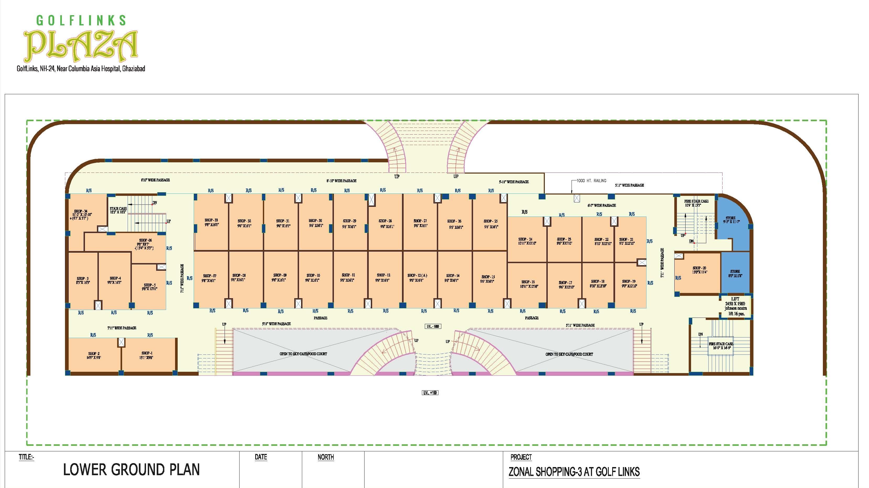 Golflinks plaza floor plan landcraft developers for Landcraft homes floor plans