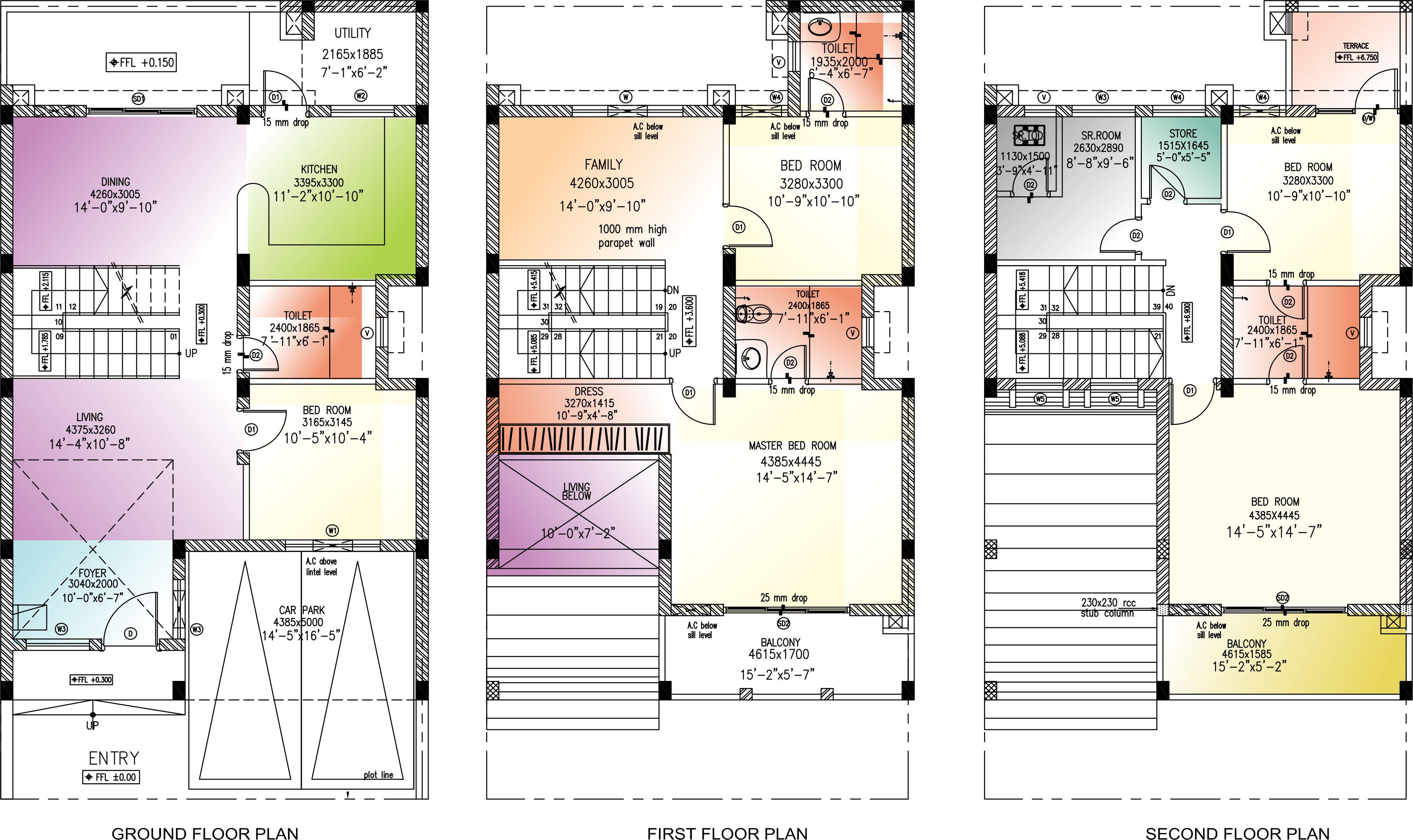 Golflinks villas floor plan landcraft developers for Landcraft homes floor plans